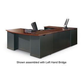 Sauder Woodworking Via Collection U Desk With Pedestals In Classic