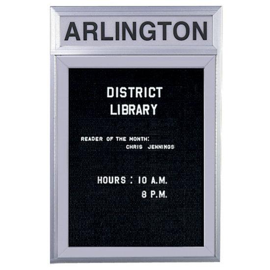 1 Door Agenda Enclosed Letter Board W Headline Panel Vlb 1h K Log