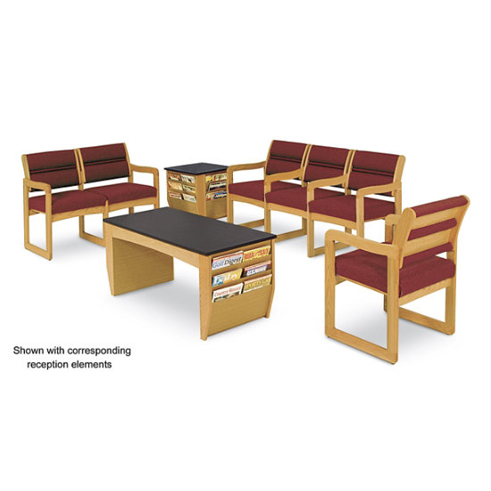 Fantastic Oakwood 3 Seat Bench In Standard Upholstery Wdw 3B K Log Gmtry Best Dining Table And Chair Ideas Images Gmtryco