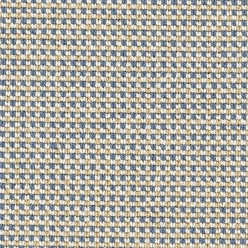 Gingham Stitch Sandstone Blue 29917