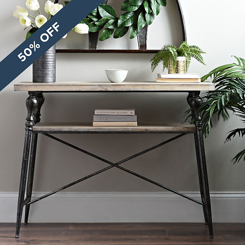 50% Off Industrial Console Now $89.99