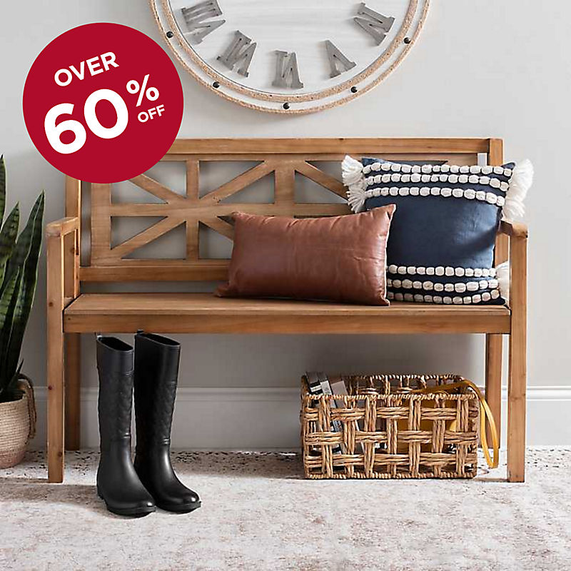 Over 60% Off Farmhouse Bench Now $104.99 with code