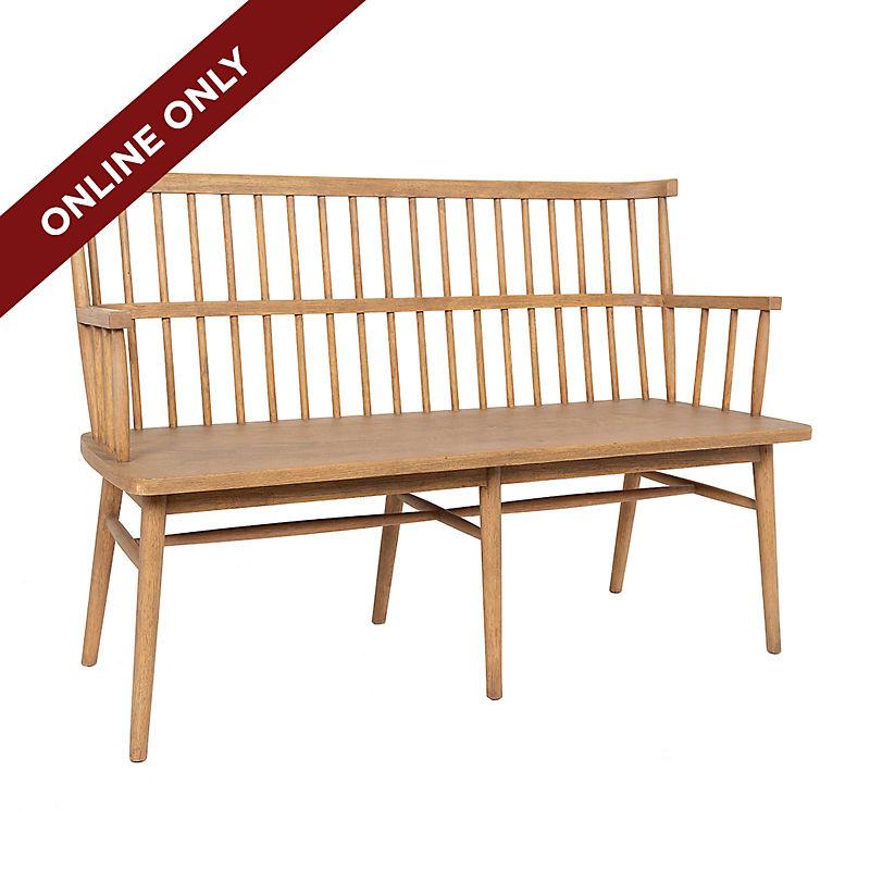 Online Only Aspen Wooden Bench 25% Off
