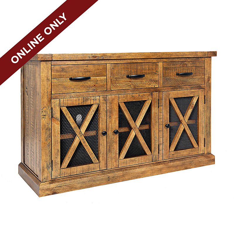 Online Only Honey Wooden Cabinet 25% Off
