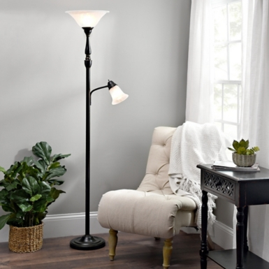 Distressed eloise floor lamp · single arm reading torchiere