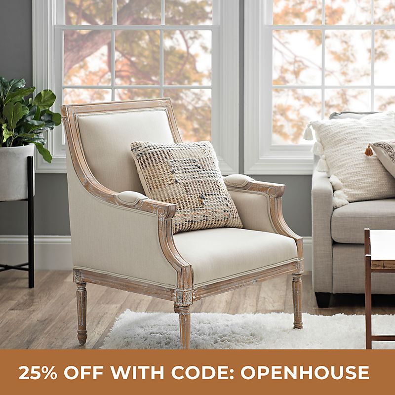 Living Room 25% Off with Code: OPENHOUSE