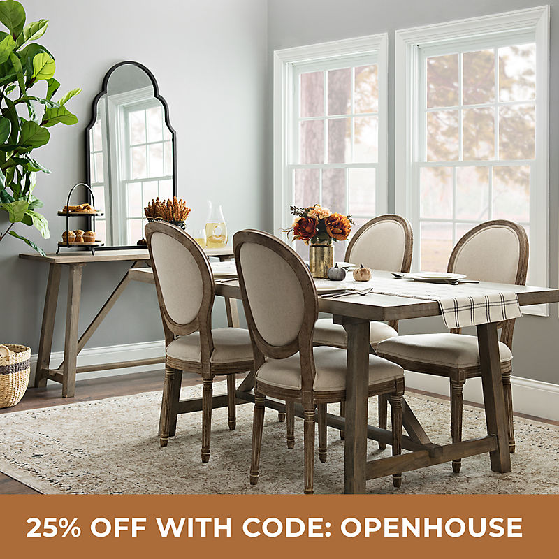 Kitchen & Dining Room 25% Off with Code: OPENHOUSE