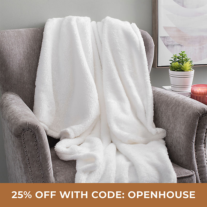 Throws 25% Off with Code: OPENHOUSE