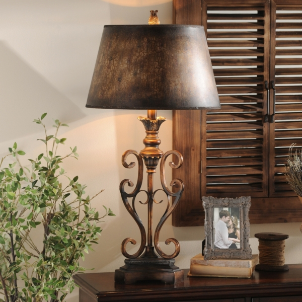 Scroll table lamp kirklands aloadofball Image collections