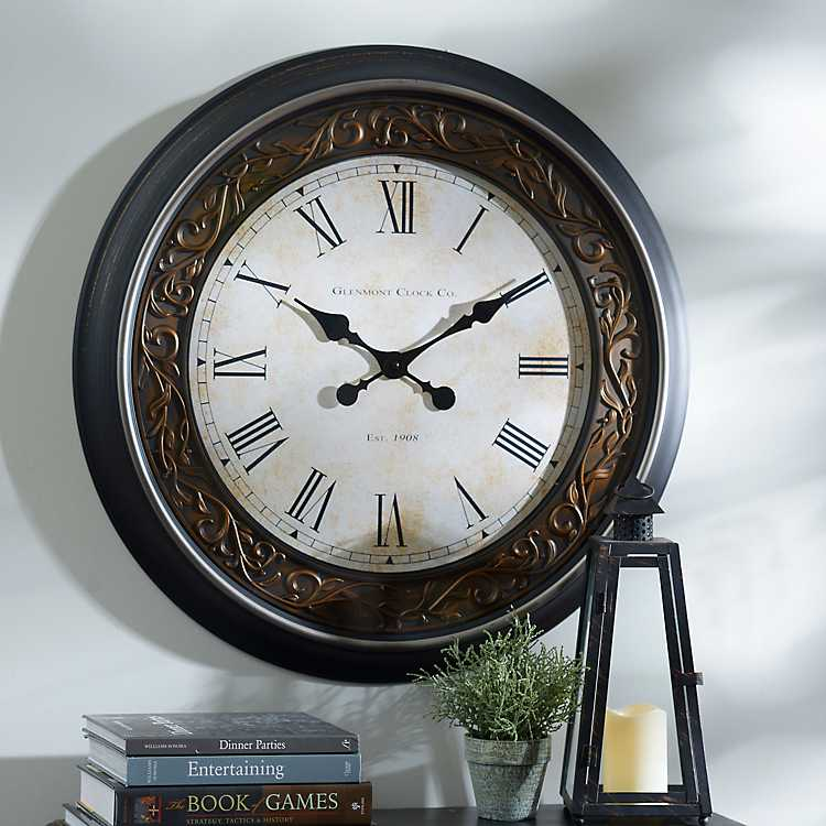 Black & Bronze Clock   Kirklands