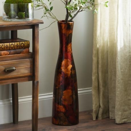 Red Foil Finish Floor Vase Kirklands