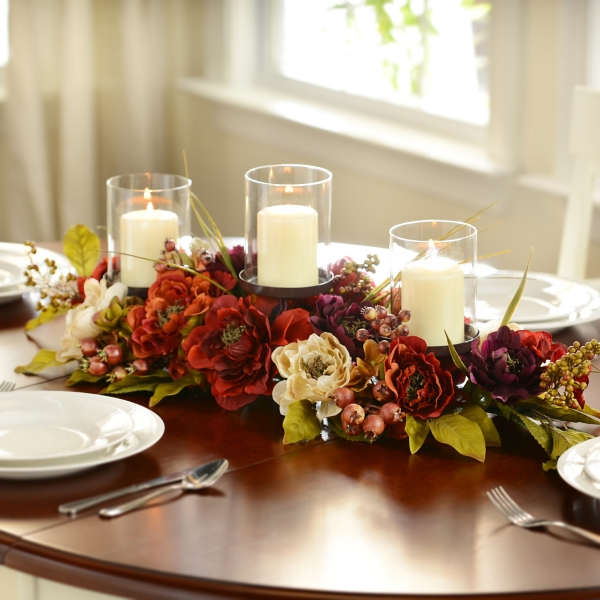 Charmant Peony Candle Centerpiece
