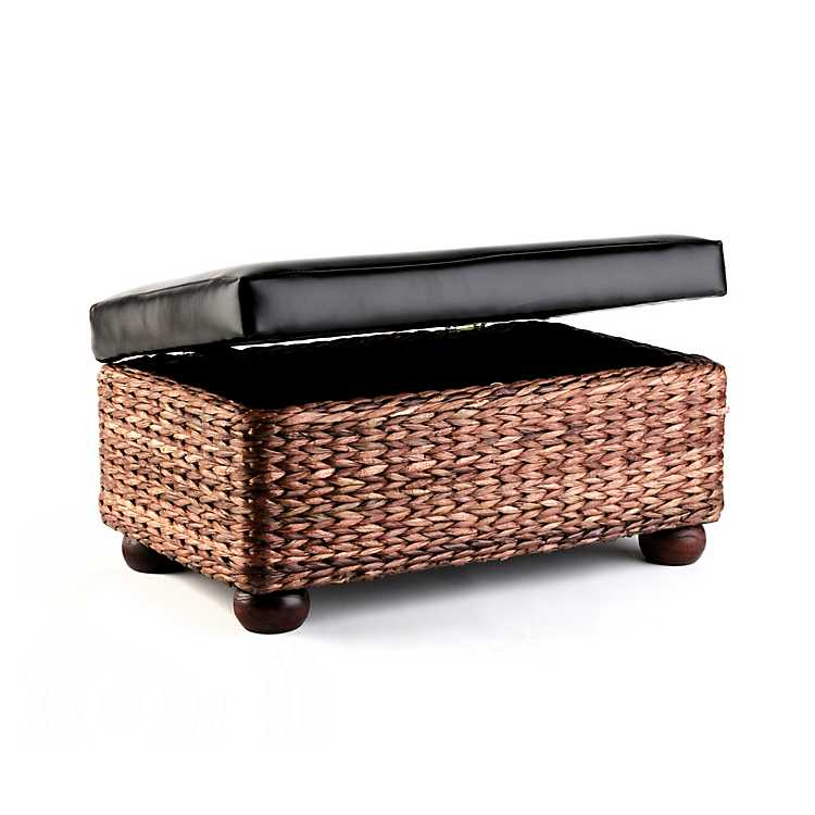 woven seagrass baskets with handles decorative storage boxes.htm natural seagrass trunk  20 in kirklands  natural seagrass trunk  20 in kirklands