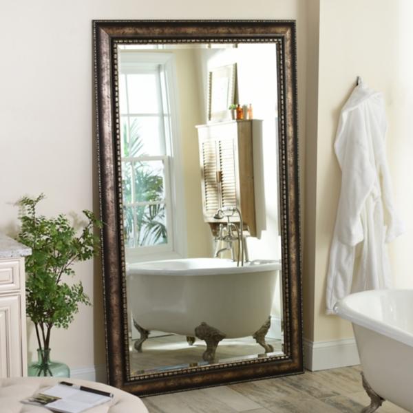 Antique Silver Leaner Mirror