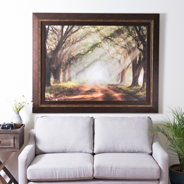 Perfect Evergreen Plantation Framed Print