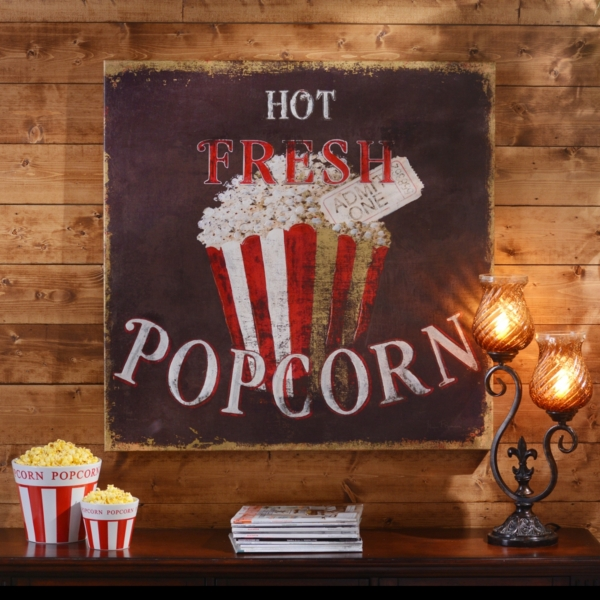 Exellent Decor Accessories Media Room Ideas With White Sofa And Red Hot Popcorn Canvas Print Kirklands
