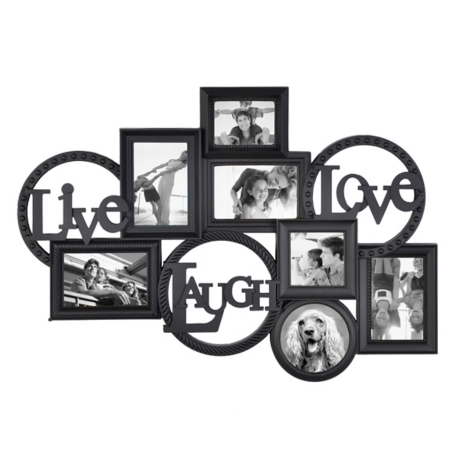 Live Laugh Love Black Collage Frame | Kirklands