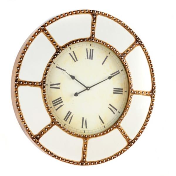 mirrored clock 36 in kirklands - Mirrored Wall Clock