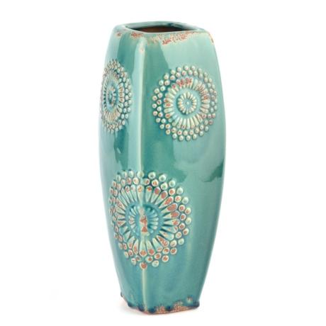 Turquoise Spiral Vase Kirklands
