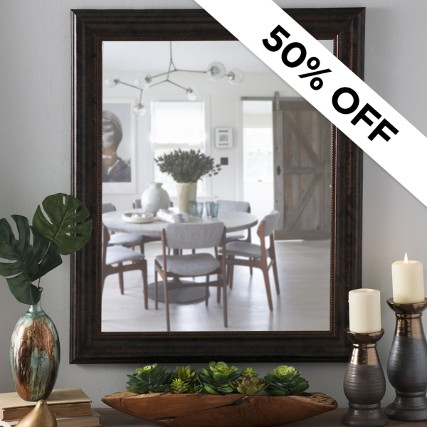 50% Off - Select Mirrors Was $29.99 - Now $14.99