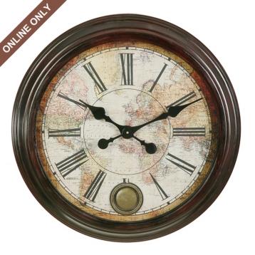 world map clock kirklands