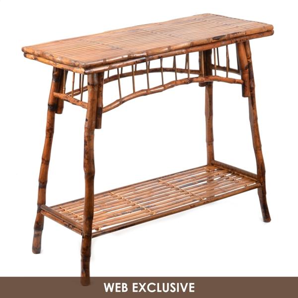 rattan console table. Rattan Console Table