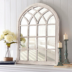 Distressed Cream Sa Arch Mirror