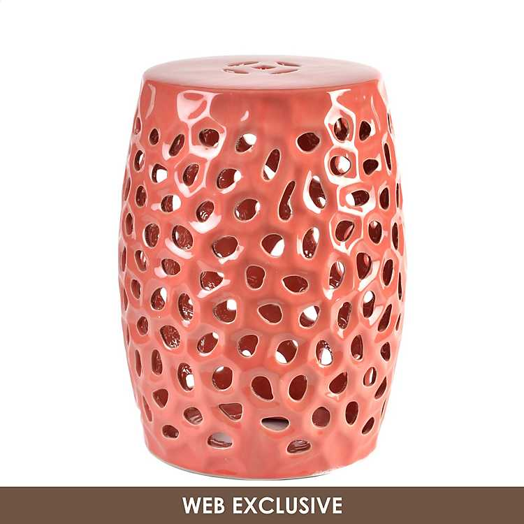 Excellent Pierced Coral Garden Stool Pdpeps Interior Chair Design Pdpepsorg
