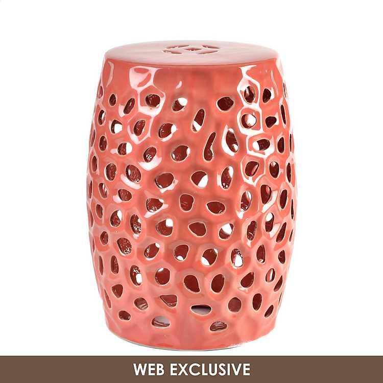 Cool Pierced Coral Garden Stool Beatyapartments Chair Design Images Beatyapartmentscom