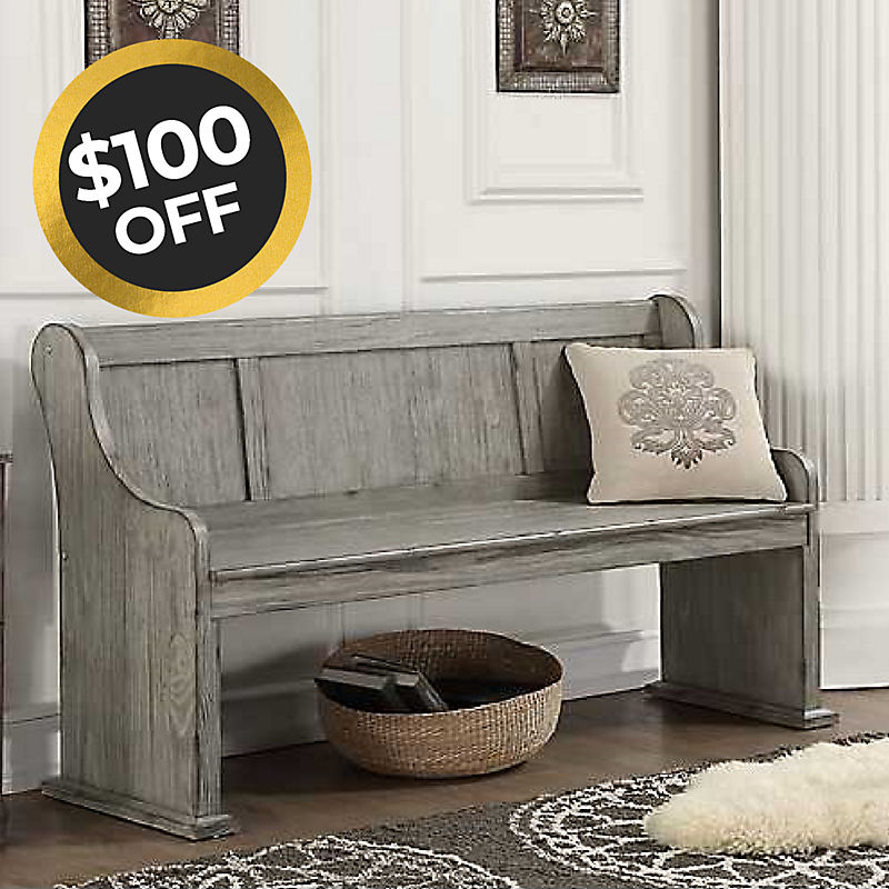 Select Pew Benches $100 off Shop Now