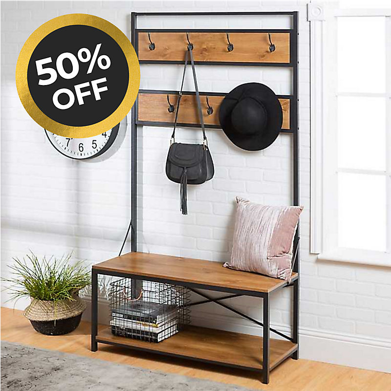 Industrial Hall Tree 50% Off Shop Now