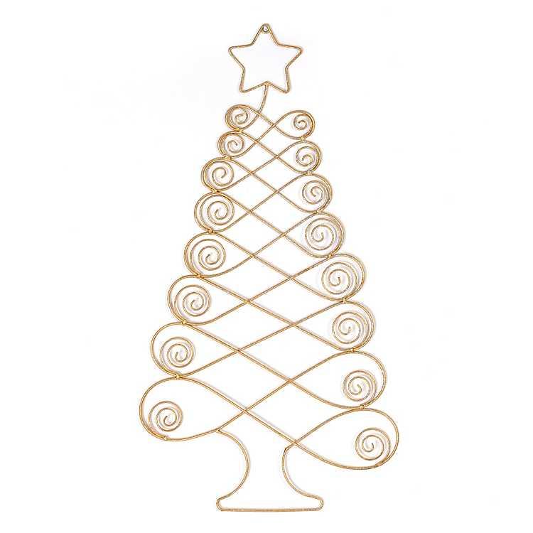 Gold Metal Christmas Tree Card Holder Kirklands