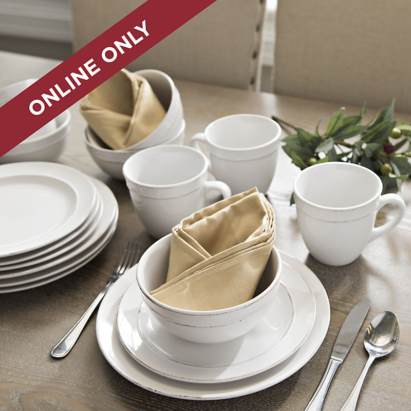 Online Only Dinnerware Sets 25% Off