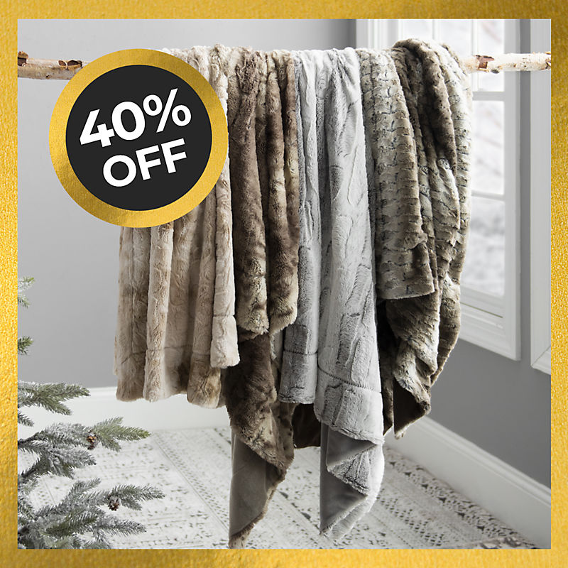 40% Off Faux Fur Throws Now $20