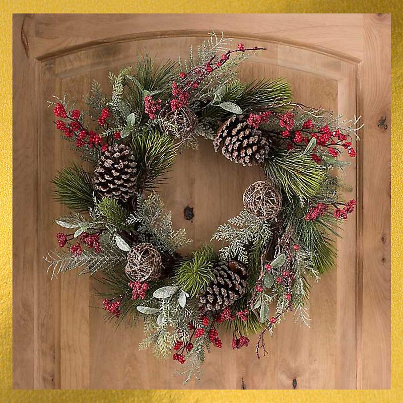 Rattan Ball Wreath Now $25