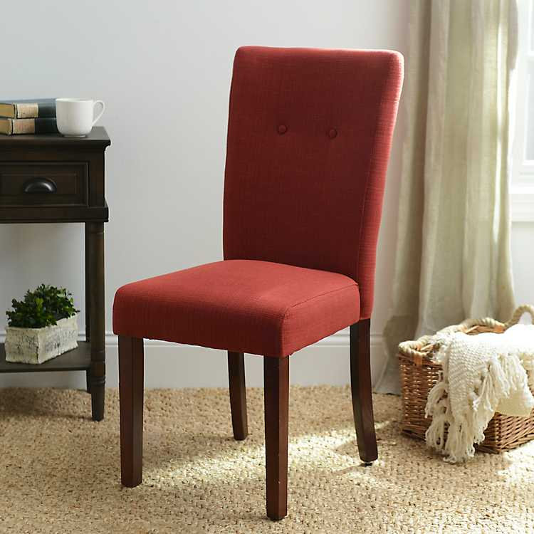 red dining chairs parsons chair kirklands 28505