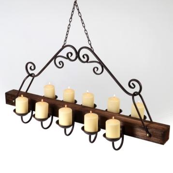 Rustic hanging candle chandelier kirklands mozeypictures Choice Image