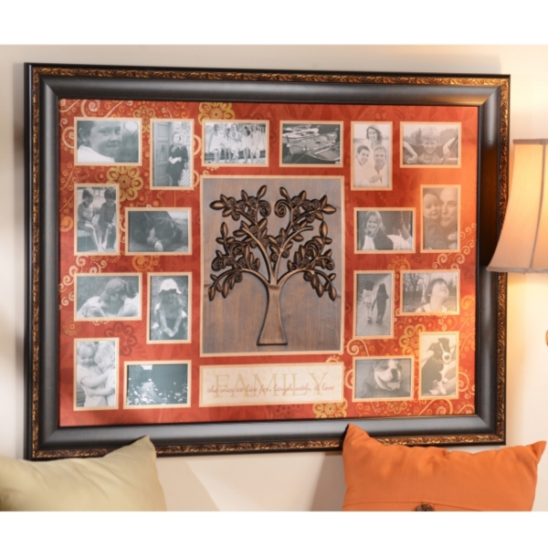 Fantastic Spice Red Family Tree Collage Photo Frame | Kirklands XN44