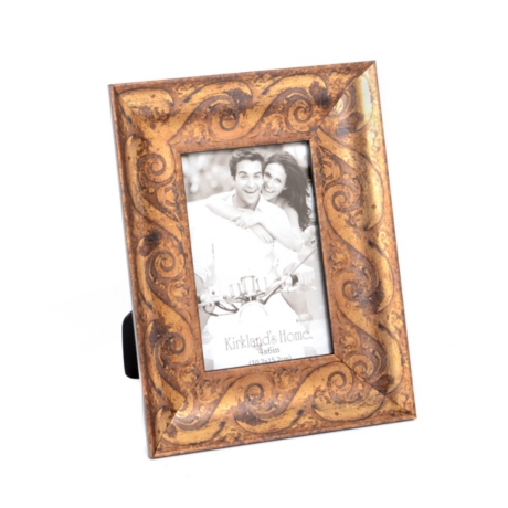 Gold Scroll Wood Photo Frame, 4x6 | Kirklands