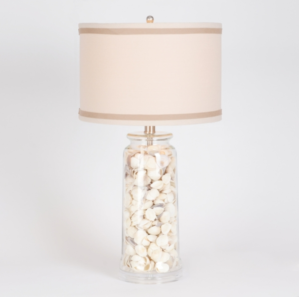 Sea shell glass table lamp kirklands aloadofball Image collections
