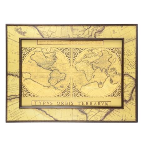 Mercator world map framed art print kirklands gumiabroncs Choice Image