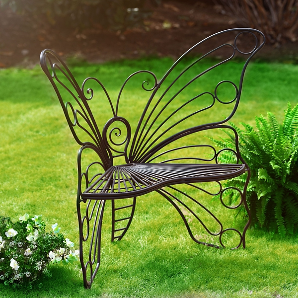 Attractive Black Butterfly Metal Patio Chair | Kirklands SV17