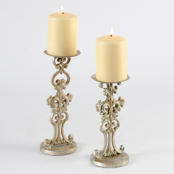 Silver Fleur De Lis Candle Holder Set Of 2 Kirklands