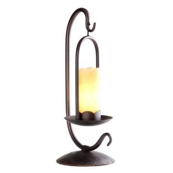 Onyx iron lantern style table lamp kirklands mozeypictures Images