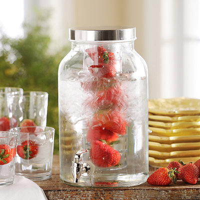 Glass Beverage Dispenser with Infuser, 1.5 gal.