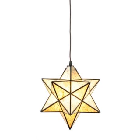 Crushed glass star pendant light kirklands aloadofball Image collections