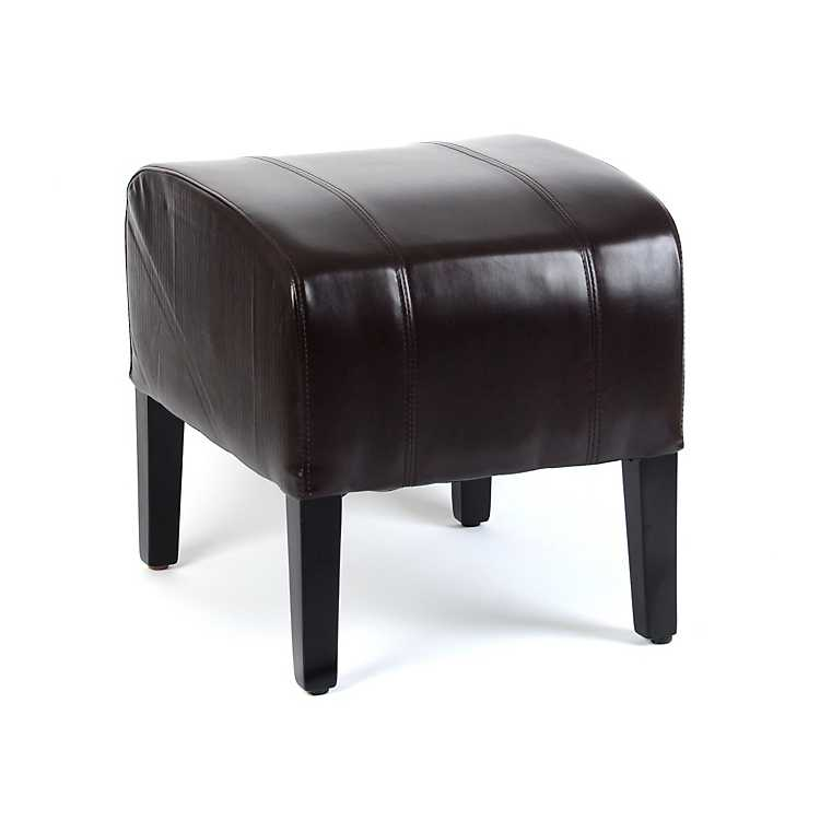 Fabulous Brown Leather Ottoman Pabps2019 Chair Design Images Pabps2019Com