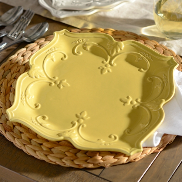 & Yellow Sweet Olive Dinner Plate | Kirklands