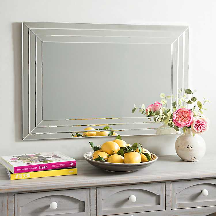 Infinity Frameless Wall Mirror 24x36