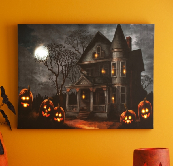 Haunted Mansion LED Canvas Art Print